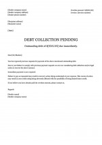Sample debt collection letter format my blog sample debt collection letter format thecheapjerseys Choice Image